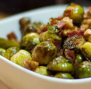 Roasted Brussels Sprouts And Shallots With Balsamic Vinegar Recipe ...