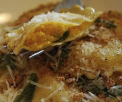Butternut Squash Ravioli with Sage and Brown Butter