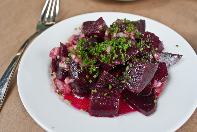 Roasted Beet Salad with Wine Vinaigrette