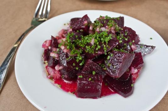 Roasted Beet Salad with Red Wine Vinaigrette