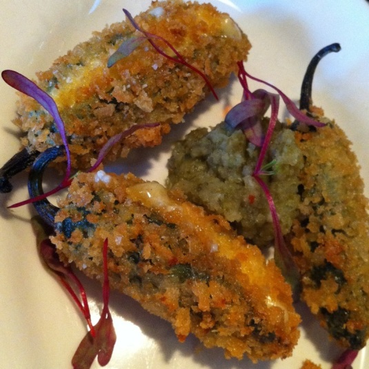 Spicy Jalapeno Poppers with Jalapeno Puree