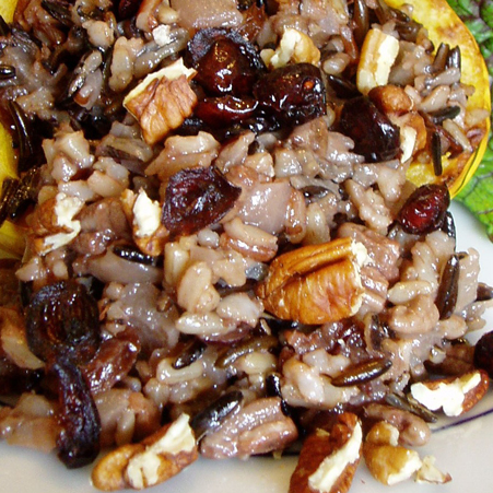 Wild Rice with Pecans and Cranberries