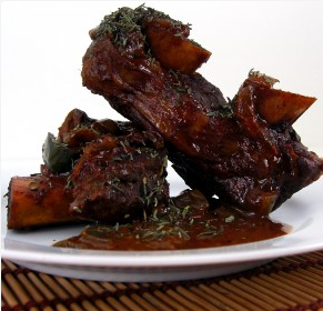 Chocolate-Coffee Braised Short Ribs
