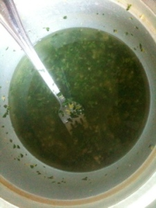 Lemon, Garlic, Parsley and Olive Oil Marinade