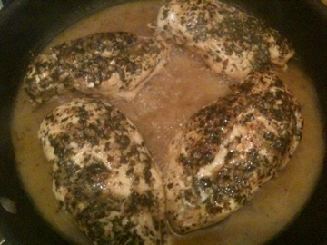 Braising Chicken in Pan Liquids