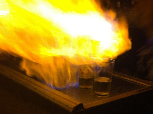 Flaming Dr Pepper Shots