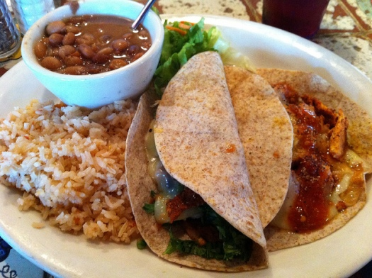 Gueros Tacos and Beans and Rice