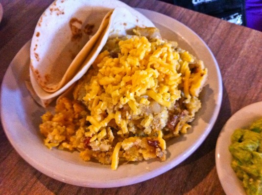 Migas at the famous Juan in a Million Restaurant