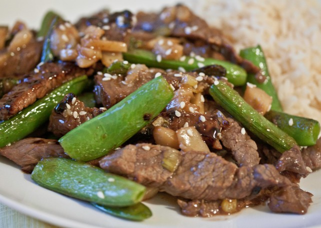 Asian 5-Spice Beef Sugar Snap Pea Stirfry