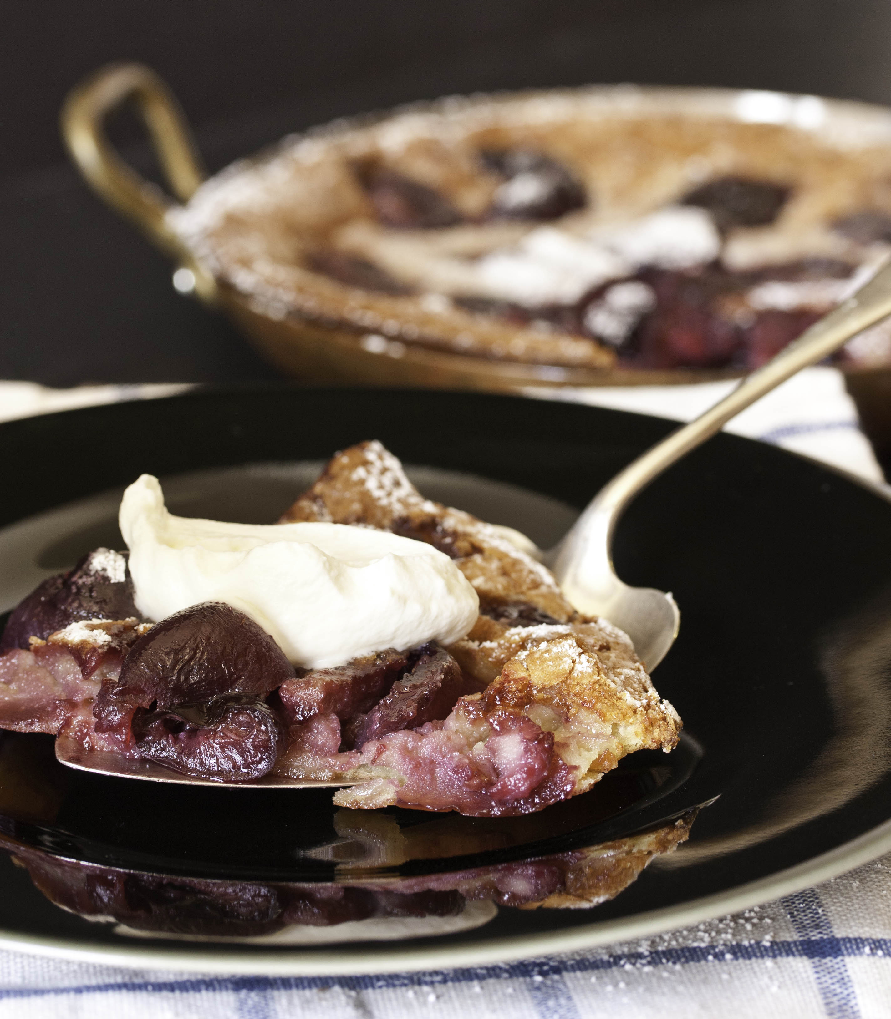 Sweet and Simple: Black Cherry Clafoutis