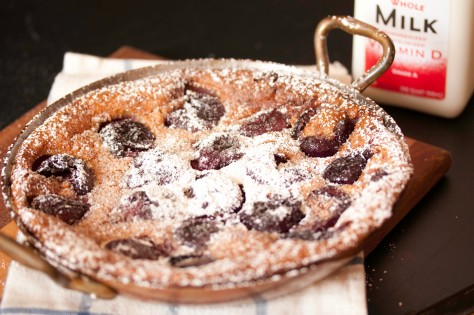 Clafouti with Powdered Sugar