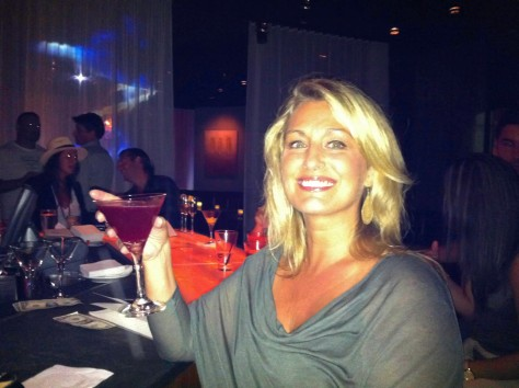 Enjoying a Blueberry Martini @ 28 Degrees