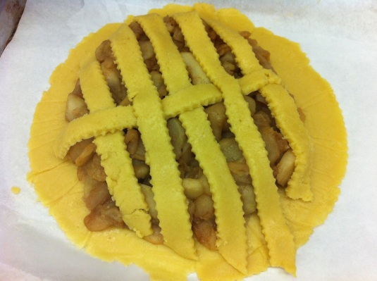 Making the lattice crust